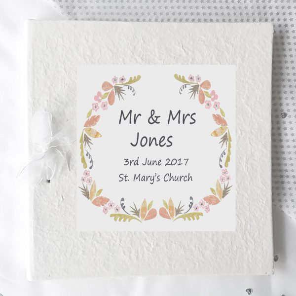 personalised wedding photo album gift