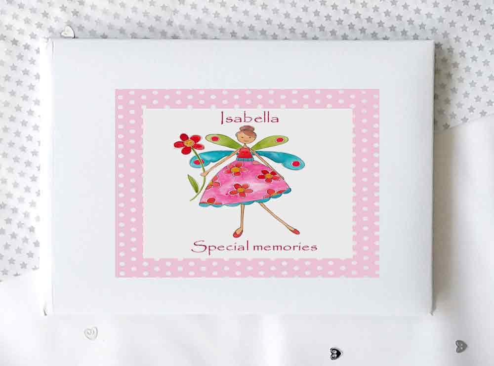 Personalised Girls Fairy Birthday Keepsake Message Guest Book