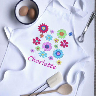 personalised apron for girl