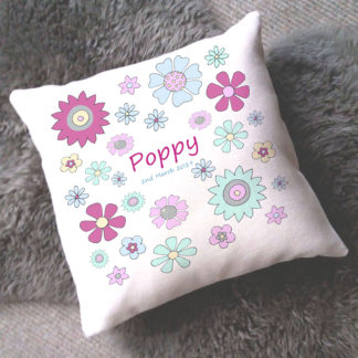 baby girl nursery cushion