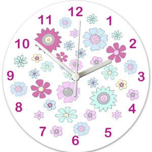 personalised flowers clock