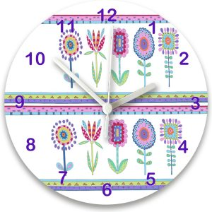 girls personalised room clock