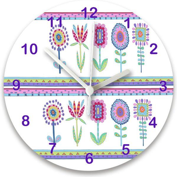 girls personalised room clock