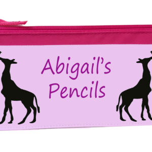 pencil case with giraffe on