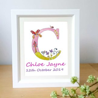 girls-initial-letter-framed