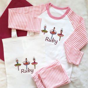 Girl's Pyjamas & Matching Bag