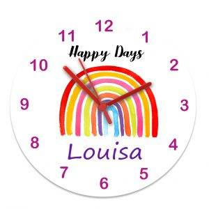 girls personalised clock