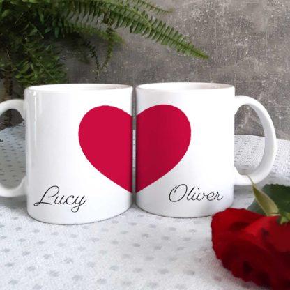 heart valentine mugs