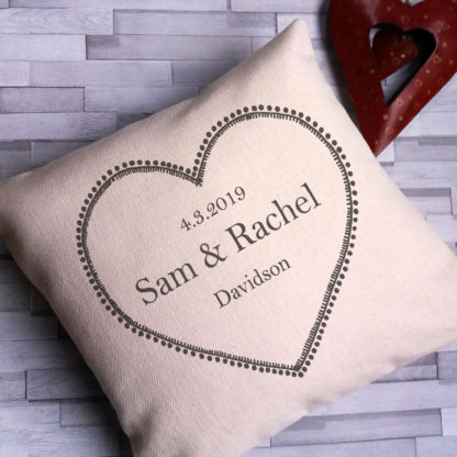 heart wedding cushion