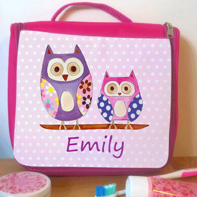 Girls Personalised Wash Bag