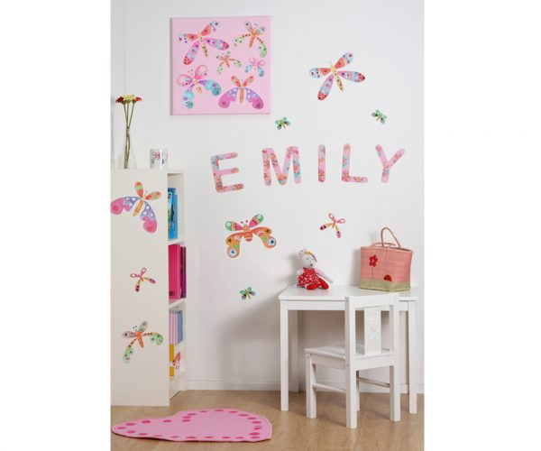 Butterfly letter stickers