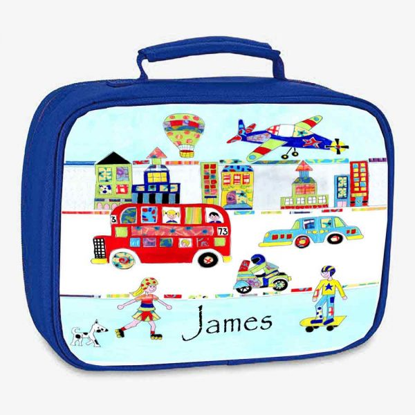 Cars Personalised Lunch Bag