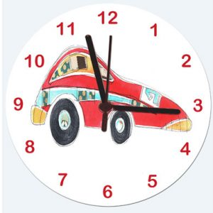 Sports Car Clock Boys Clock
