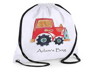 Tractor Boys Swimming Bags