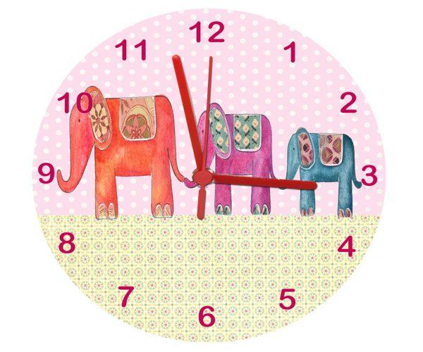 Elephant personalised clock