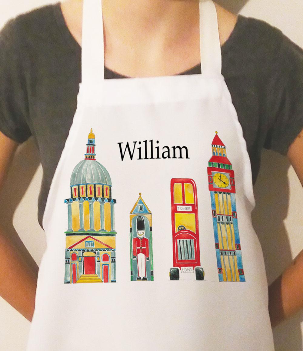 london personalised apron