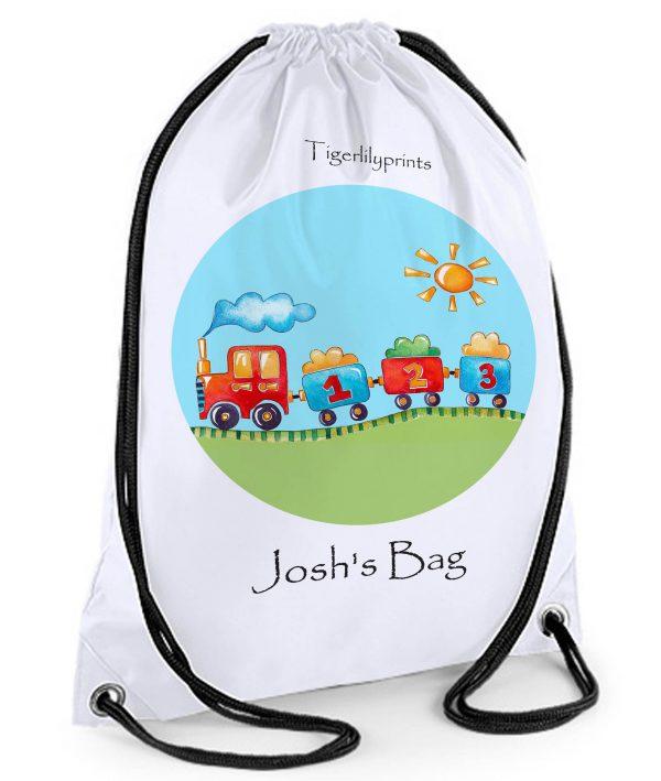Train Drawstring Bag