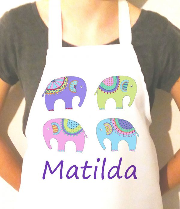 girls personalised aprons UK