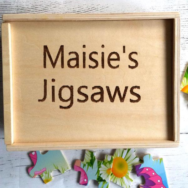 engraved jigsaw for little girl