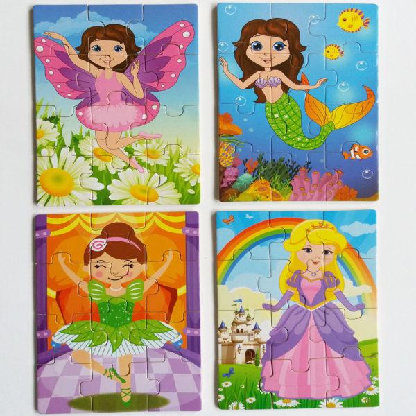 set of 4 jigsaws for girls