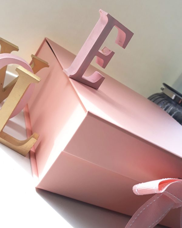 large pink keepsake box