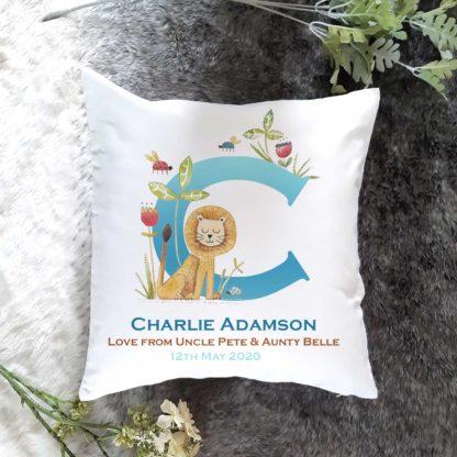Lion Name Cushion