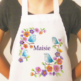 girls personalised apron