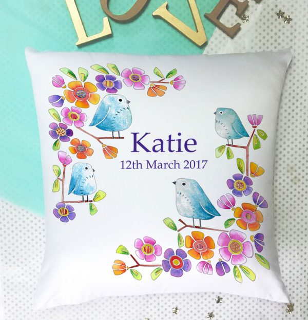 girls personalised cushion