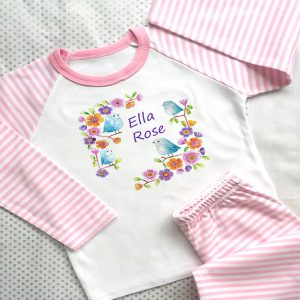 little birds girls personalised pyjamas