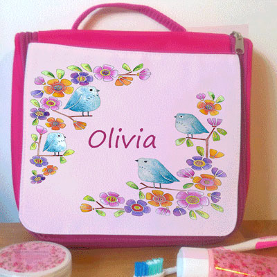 personalised wash bag for girl