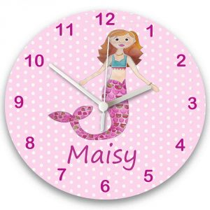 girls personalised clocks