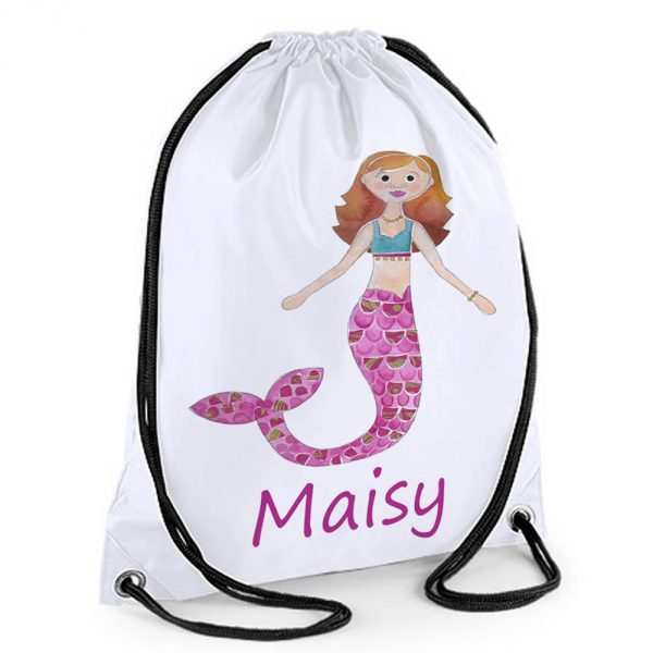 girls personalised swimming bags