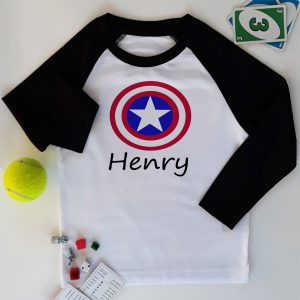 boys marvel personalised top