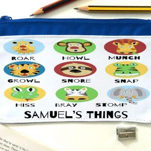 boys personalised pencil case