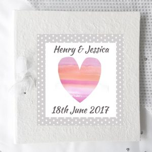 personalised wedding day photo album