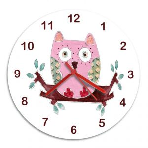 personalised girls wall clock