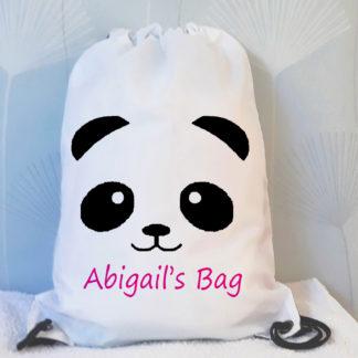 panda drawstring bag