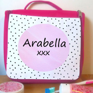 pink wash bag for holiday