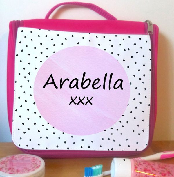 pink wash bag for holiday