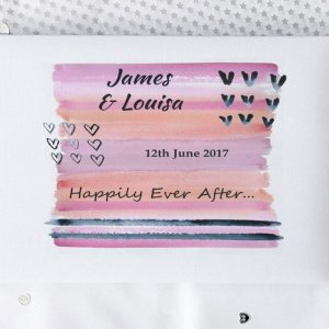 wedding day guest book personalised