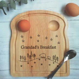 polar bear engraved breakfast board