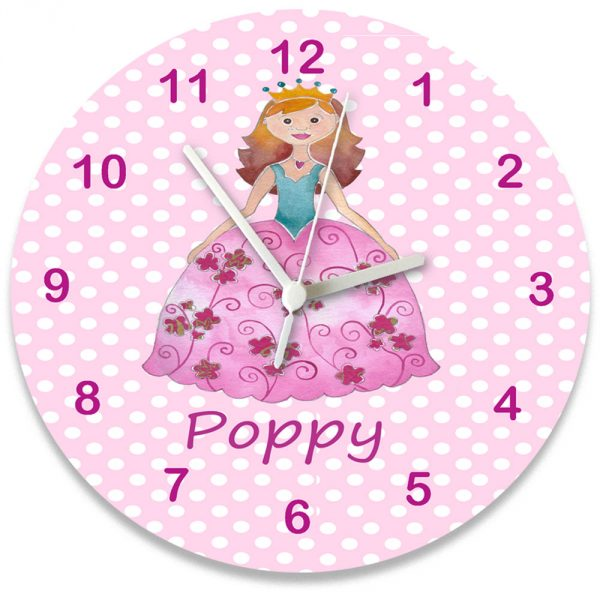 Pink Personalised Wall Clock