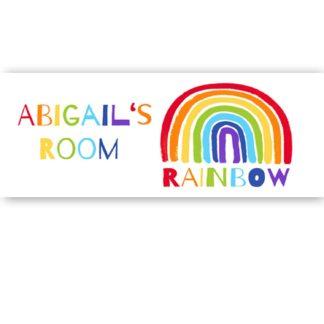 Rainbow Door Sign