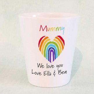 rainbow mothers day plant pot
