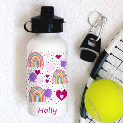 rainbow heart bottle
