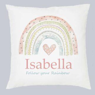Rainbow Personalised Cushion