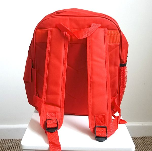 school ruck sack back view