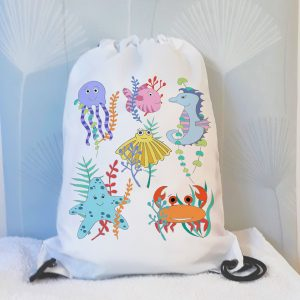personalied under the sea girlbag