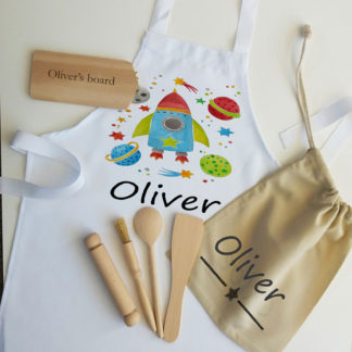 space personalised apron