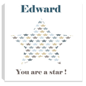 personalised star baby canvas